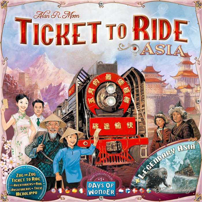 Ticket to Ride Map Collection: Volume 1 - Team Asia & Legendary Asia - obrázek