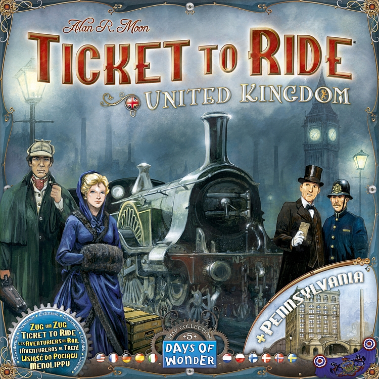 Ticket to Ride Map Collection: Volume 5 – United Kingdom & Pennsylvania - obrázek