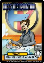 Sentinels of the Multiverse: Miss Information Villain Character - obrázek