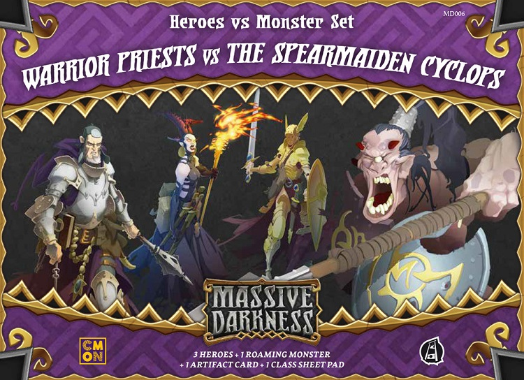 Massive Darkness: Heroes & Monster Set – Warrior Priests vs The Spearmaiden Cyclops - obrázek