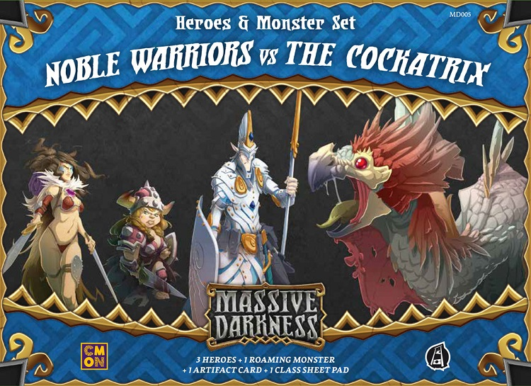 Massive Darkness: Heroes & Monster Set – Noble Warriors vs The Cockatrix - obrázek