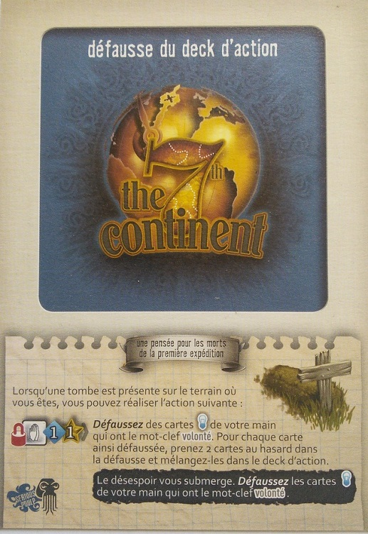 7th Continent, The: Action Deck Discard - obrázek