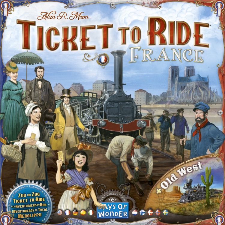 Ticket to Ride Map Collection: Volume 6 – France & Old West - obrázek